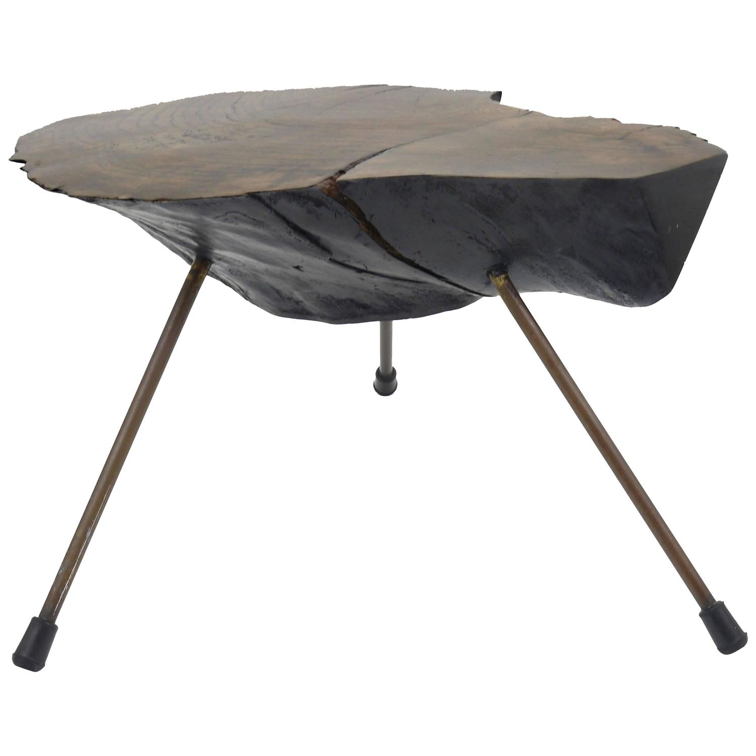 Mid Century Modern Tree Slab Coffee Table For Sale At 1stdibs: Carl Auböck Tree Trunk Table, Austria, 1950s For Sale At