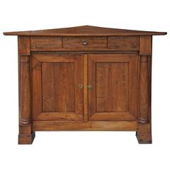 19th Century French Fruitwood Encoignure or Corner Cabinet