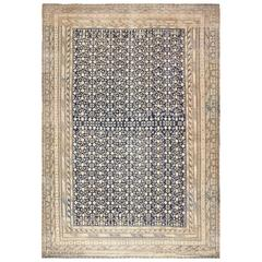 Rare Oversized Antique East Turkestan Khotan Rug 50347