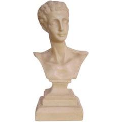 Midcentury Italian Classical Roman Sculpture Bust