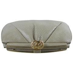 Judith Leiber Vintage Taupe Lizard Evening Bag with Original Dust Bag and Box