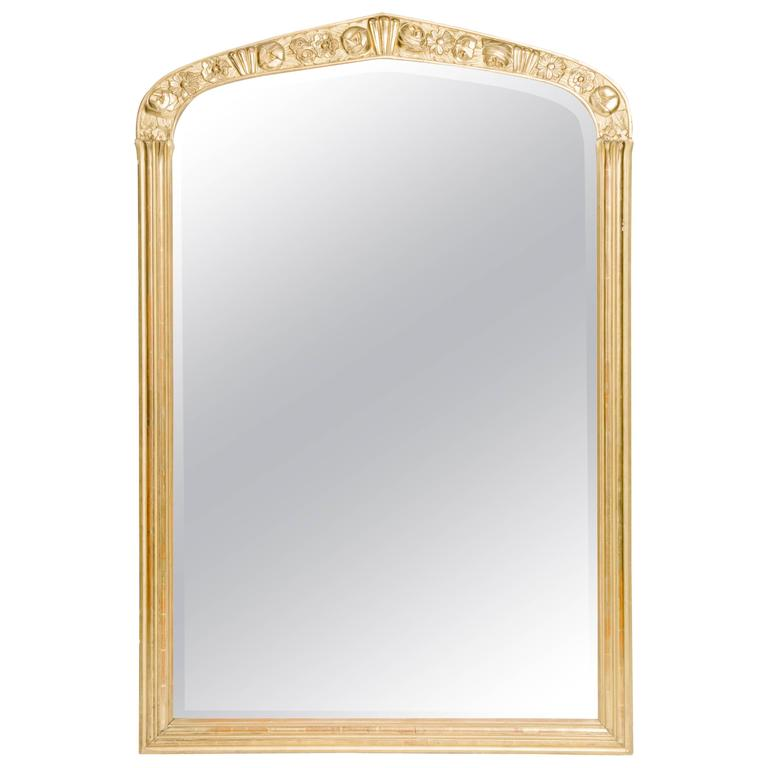 French Art Deco Giltwood Mirror