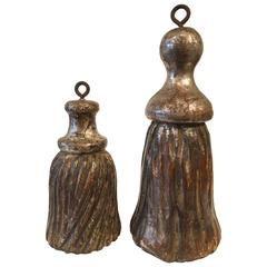 Late 19th Century Italian Gilded Wood Tassels