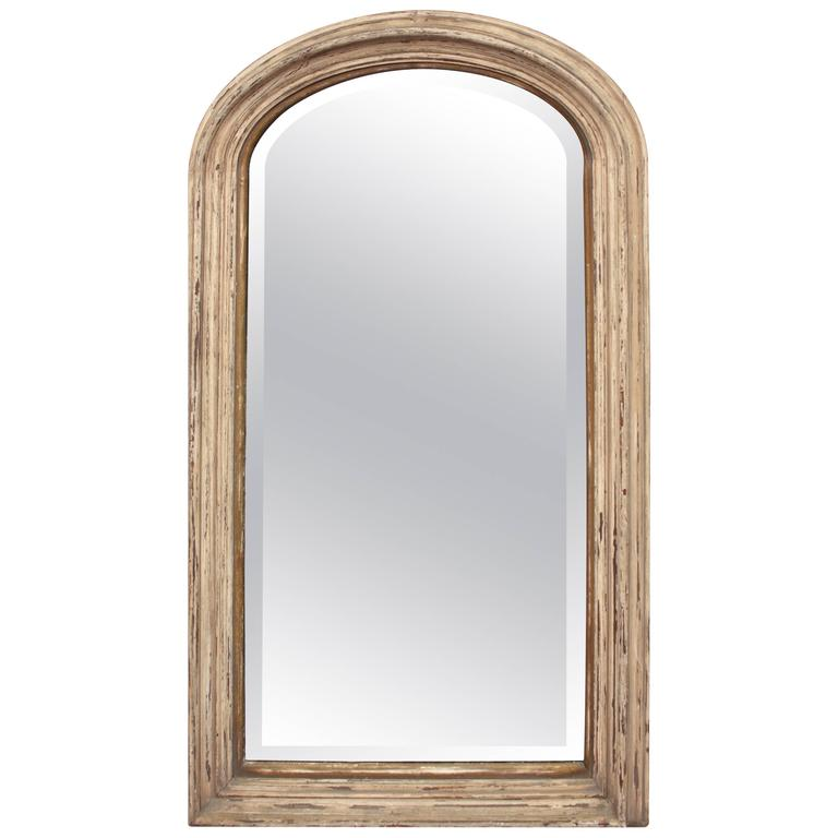 Early 20th century arch top narrow mirror at 1stdibs for Narrow mirror