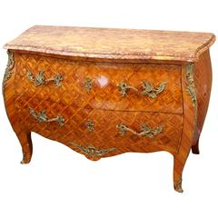 19th Century French Antique Louis XV Style Bombe Commode