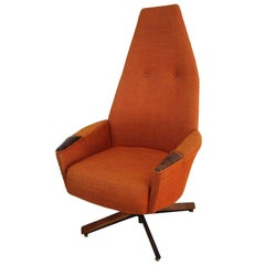 Midcentury High Back Lounge Chair by Adrian Pearsall