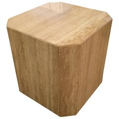 Midcentury Modern Travertine Drinks Table