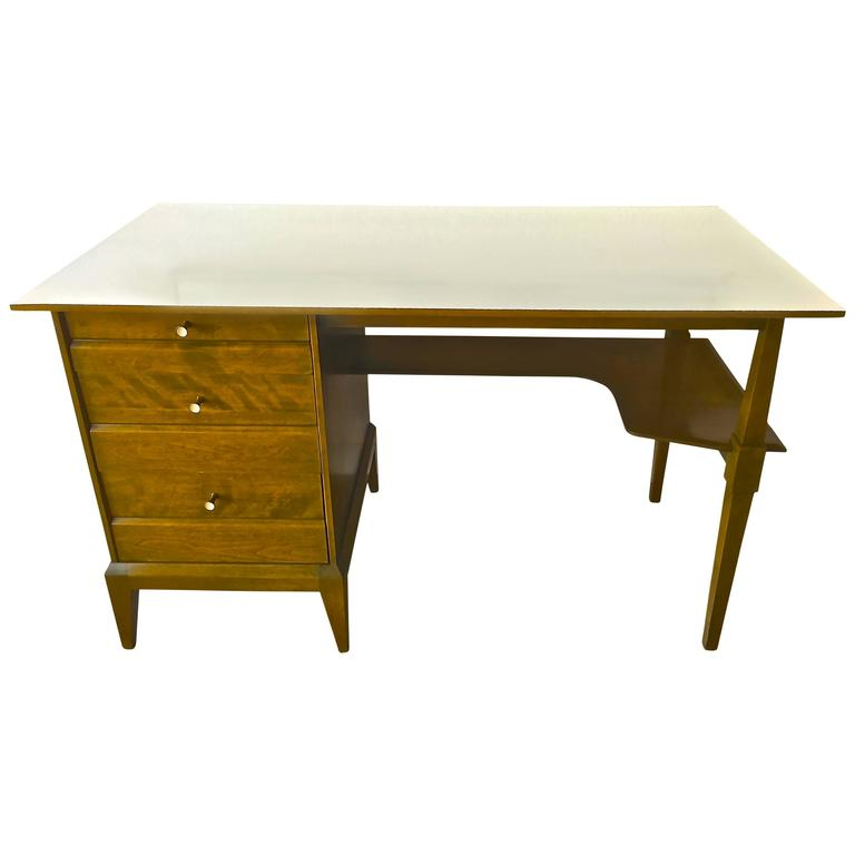 Heywood Wakefield Mid Century Modern Desk For Sale at 1stdibs