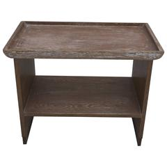 Cerused End Table by Maple & Co