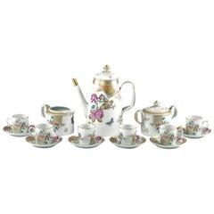 Vista Alegre for Mottahedeh 'Lowestoft Rose' Porcelain Demitasse Se