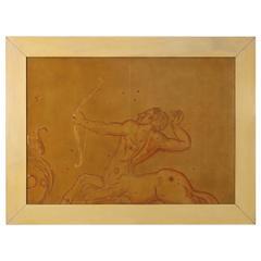'Sagittario' Decorative Panel by Pierre Lardin Synthetic Lacquer Wood