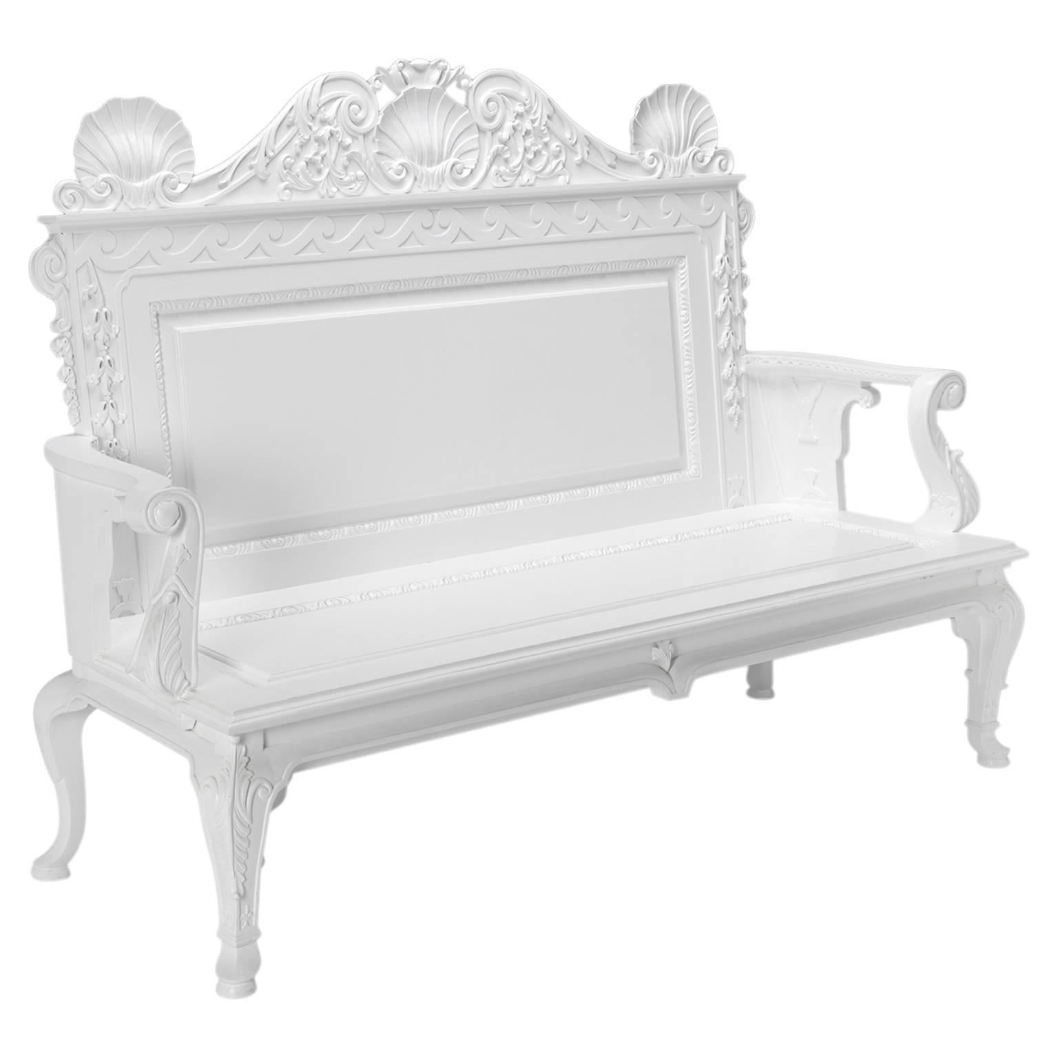 Garden or Hall Benches in the manner of William Kent
