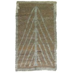 Vintage Tulu Shag Rug with Directional Motif
