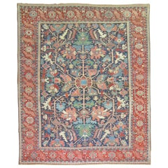 Classic Antique Persian Serapi Carpet