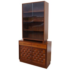 Woven-Front Two-Piece Cabinet by Edward Wormley for Dunbar