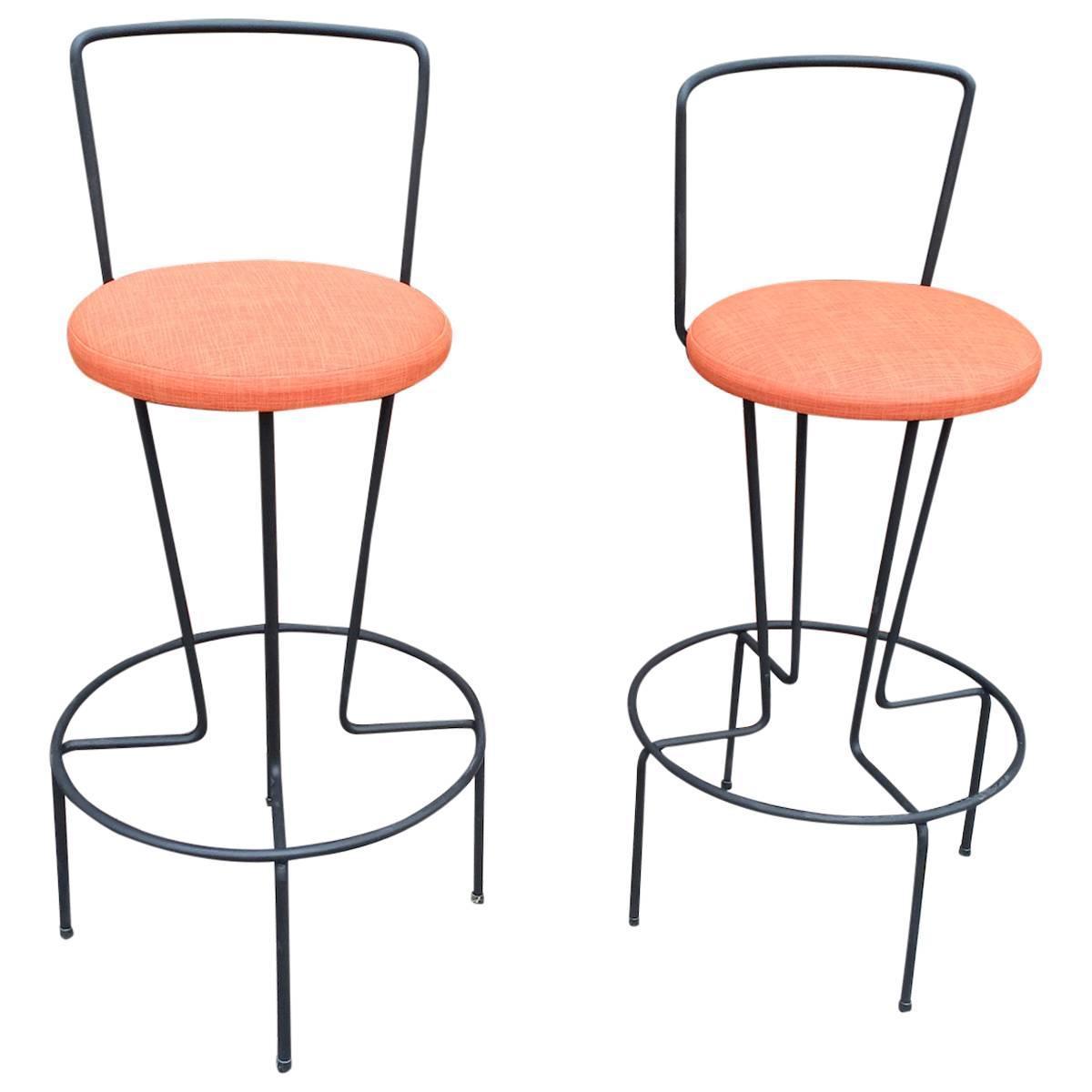 Of rare mid century modern frederick weinberg bar stools at 1stdibs