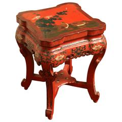 Chinese Red Lacquer Stand