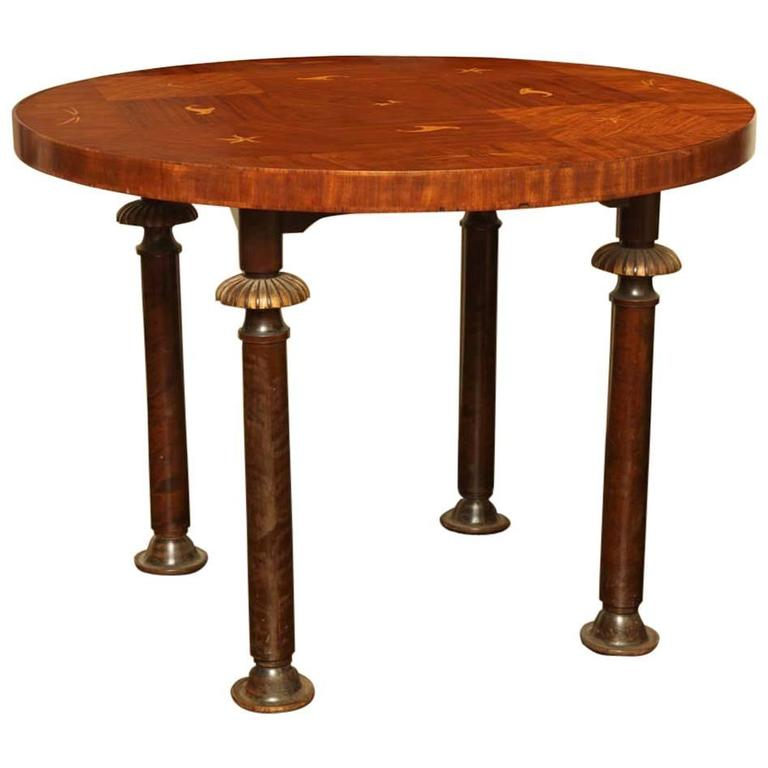 Swedish Grace Inlaid Center Table