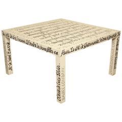 """Jean-Charles de Castelbajac """"Proust"""" Table"""
