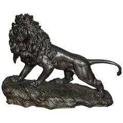 Large 19th Century Japanese Bronze Lion