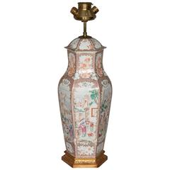18th Century Chinese Mandarin Vase / Lamp