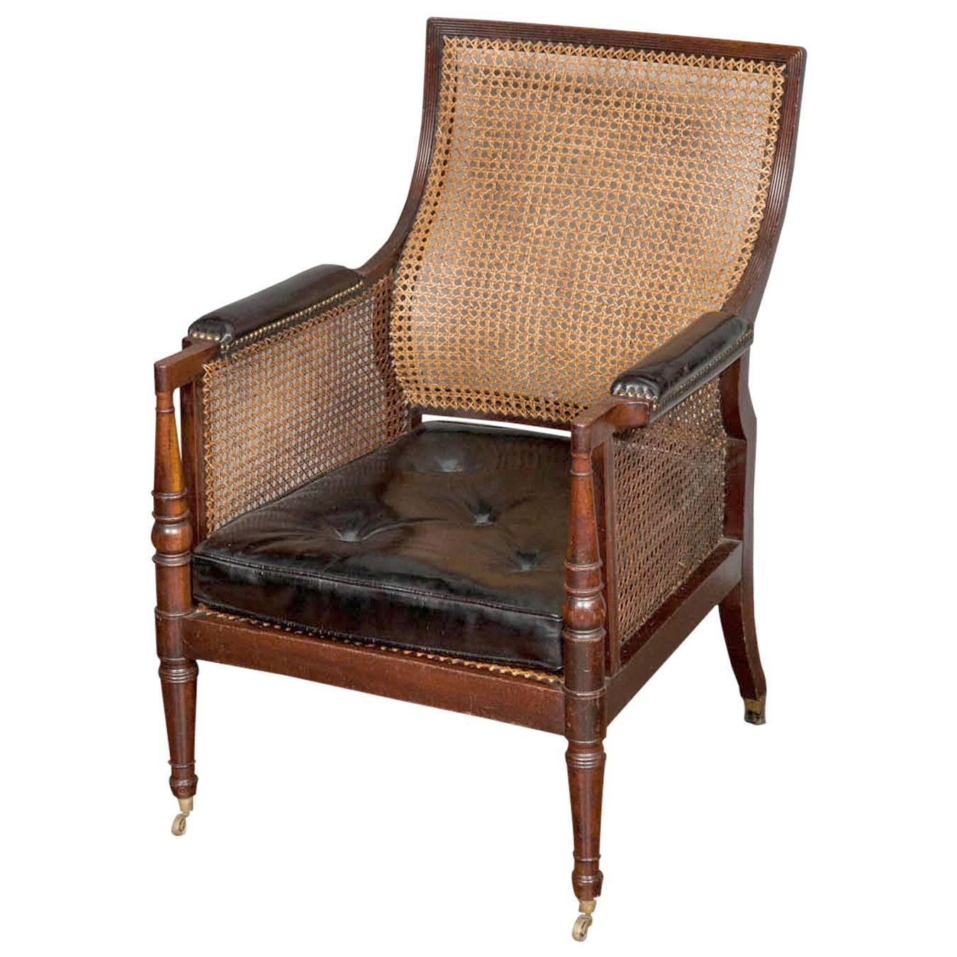 Regency Library Chair For Sale at 1stdibs