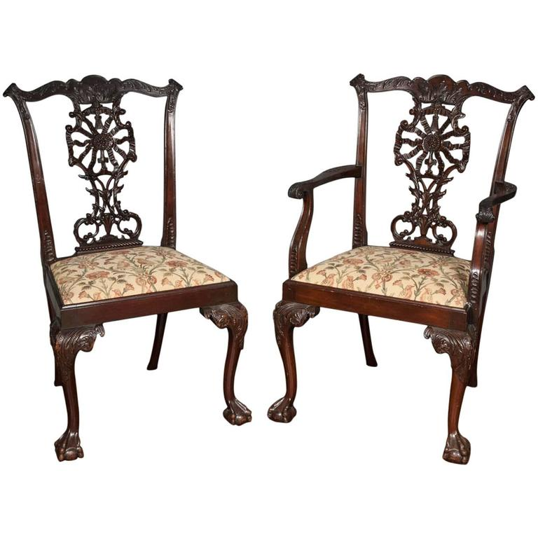 Chippendale Dining Room Chairs: 12 Chippendale Style Dining Chairs At 1stdibs