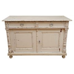Two-Door, Two-Drawer Painted Buffet