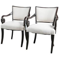 Pair 1940s Arm Chairs