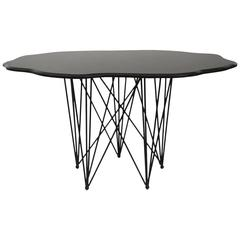 Amazing Black Marble Sculptural Center or Dining Table