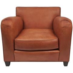 Donghia Leather Lounge Chair