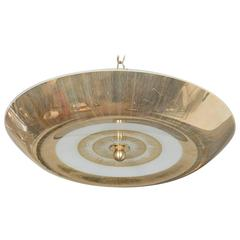"Modernist Italian ""Gold"" Flush Mount, circa 1958"