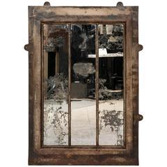 Antique Cast Iron Wall Mirror