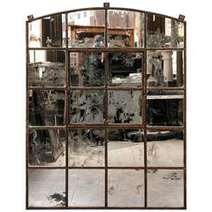 Victorian Cast Iron Warehouse Window Mirror