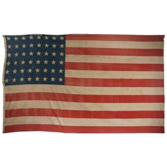 Early American 48 Star Flag, Very Large