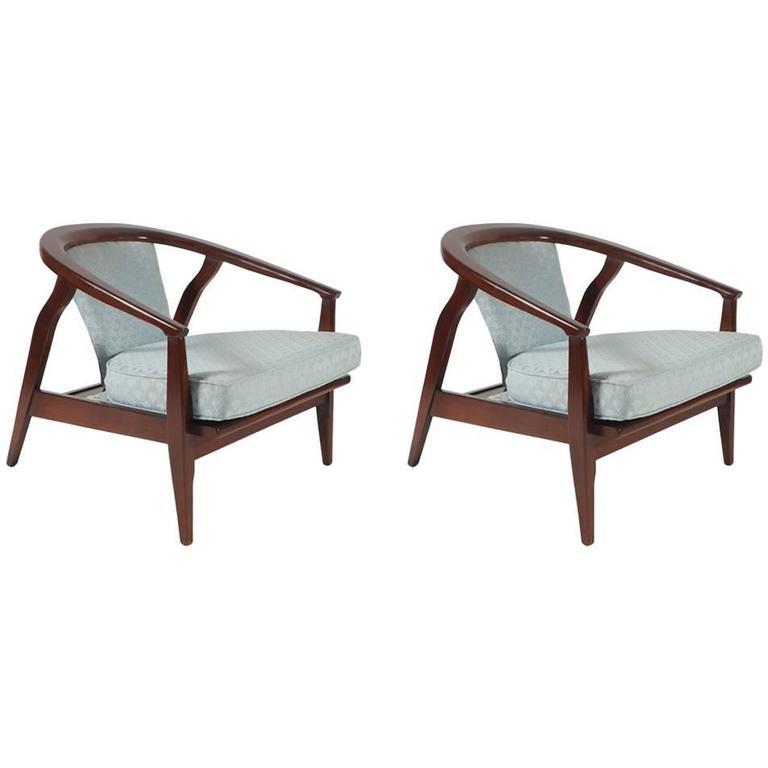 Pair of Mid-Century Modern Armchairs by Milo Baughman