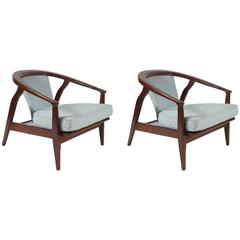 Pair of Mid-Century Modern Armchairs by Milo Baughman