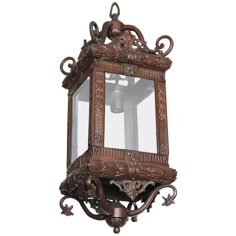 Late 19th Century English Bronze Lantern