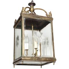 Late 19th Century English, Brass Lantern