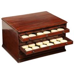 19th Century Eight-Drawer Box of Plaster Seals