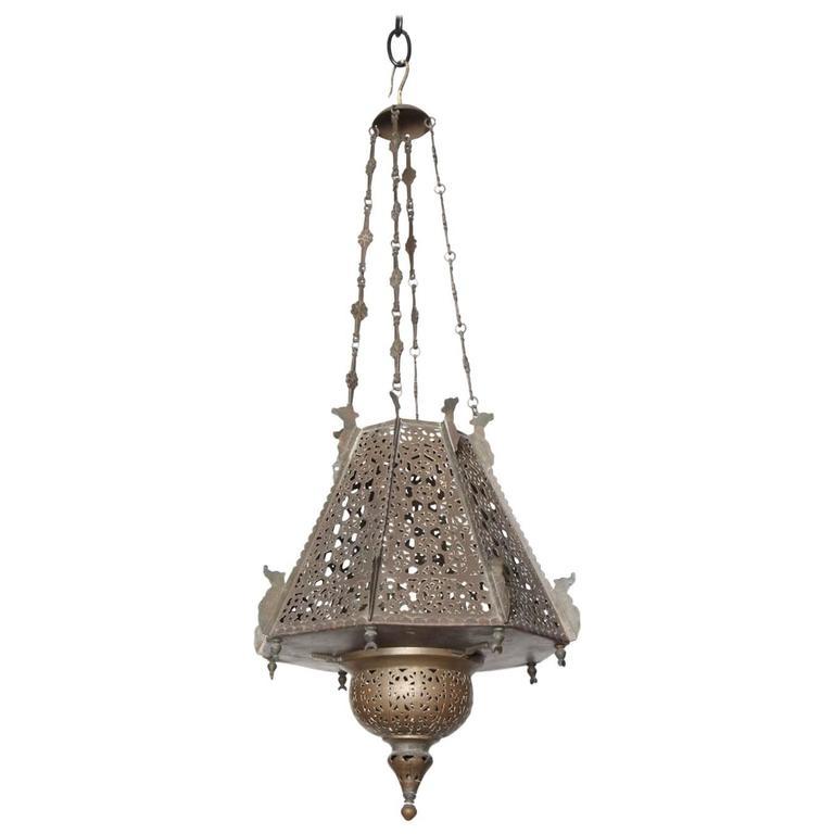 Fretwork Lantern, circa 1910-1920