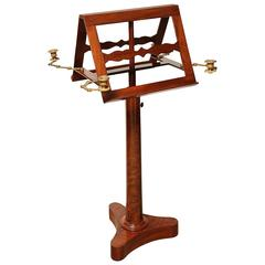 Early 19th Century French, Mahogany, Adjustable Height, Two-Sided Music Stand