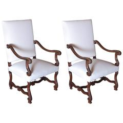 Pair of High Back French Chairs