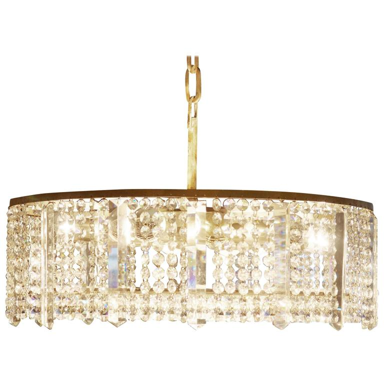 Austrian Cut Crystal Chandelier by Bakalowits & Söhne For Sale