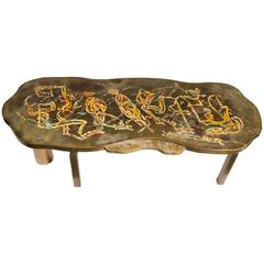 Bronze Laverne Custom Table with a Musical Motif