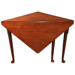 George II Mahogany Envelope or Corner Table, circa 1740