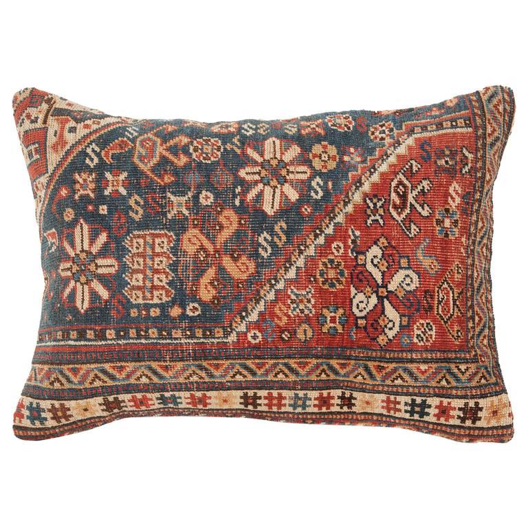 Antique Persian Tribal Rug Or Khamseh Pillow, Good Design