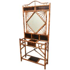 19th Century English Bamboo Hall Stand