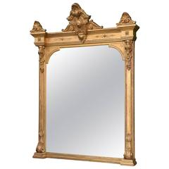19th Century French Palace Size Carved Gilt Mirror