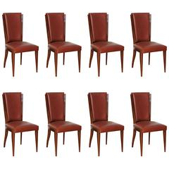 Suite of Eight Art Deco Dining Chairs